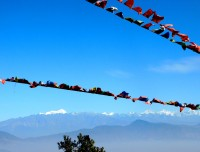 Panoramic Himalaya view of Langtang & more