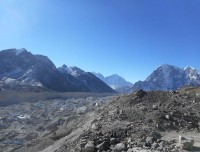 glimpse of Khumbu glacier