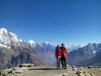 View from Manaslu Base Camp