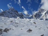 View from over Larke Pass