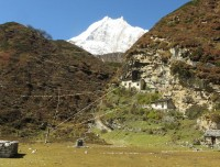Manaslu View from Pungen Gumpa