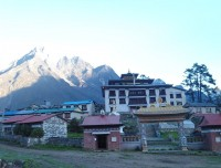 view of tengboche monastery