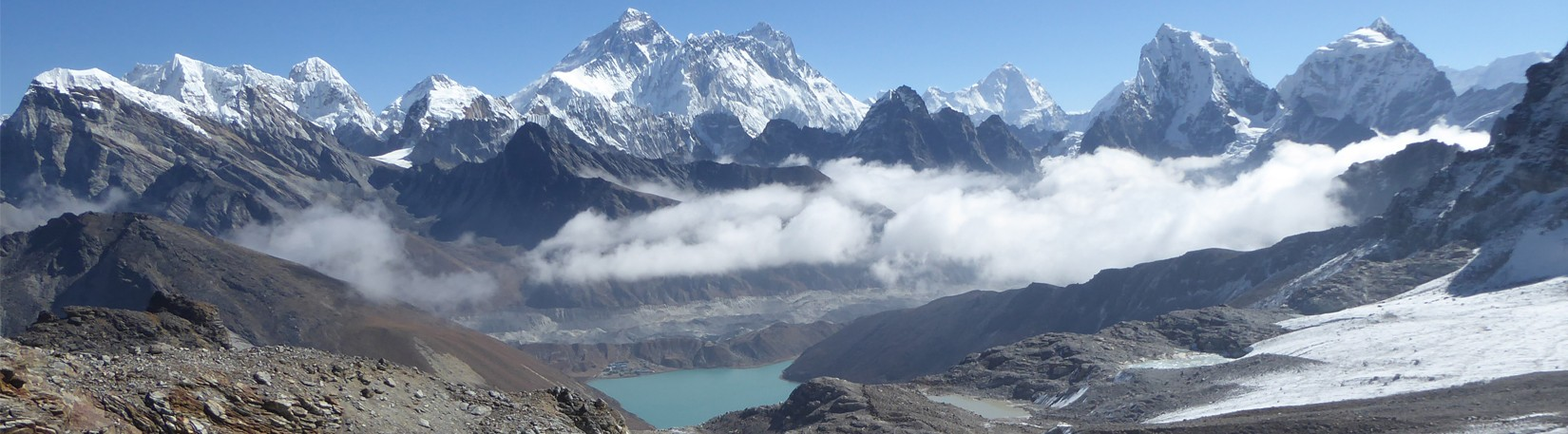 View from Cho La Pass, Everest Region